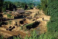 Ziegelei in der Son La-Provinz, Vietnam