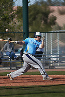 Riley Covington (13) of Liberty North High School in Kansas City, Missouri during the Baseball Factory All-America Pre-Season Tournament, powered by Under Armour, on January 14, 2018 at Sloan Park Complex in Mesa, Arizona.  (Freek Bouw/Four Seam Images)