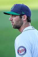 Cedar Rapids Kernels pitcher Randy LeBlanc (15) prior to game five of the Midwest League Championship Series against the West Michigan Whitecaps on September 21st, 2015 at Perfect Game Field at Veterans Memorial Stadium in Cedar Rapids, Iowa.  West Michigan defeated Cedar Rapids 3-2 to win the Midwest League Championship. (Brad Krause/Four Seam Images)