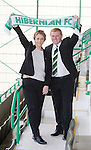 Neil Lennon is appointed as manager of Hibs with chief exec Leann Dempster