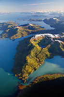 Aerial, Chugach Mountains, Prince William Sound, Chugach National Forest, Alaska.