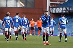 21.02.2021 Rangers v Dundee Utd: Ianis Hagi celebrates after opening the scoring for Rangers