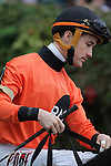 HOT SPRINGS, AR - MARCH 12: Jockey Channing Hill aboard Marquee Miss (6) before the Honeybee Stakes at Oaklawn Park on March 12, 2016 in Hot Springs, Arkansas. (Photo by Justin Manning)