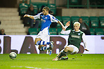 Hibs v St Johnstone.....11.02.13      SPL.Mehdi Abeid is brought down by Ryan McGivern for a penalty which Steven Maclean missed.Picture by Graeme Hart..Copyright Perthshire Picture Agency.Tel: 01738 623350  Mobile: 07990 594431