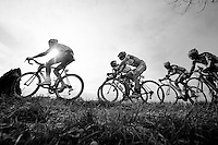 peloton over the Haaghoek<br /> <br /> Omloop Het Nieuwsblad 2015