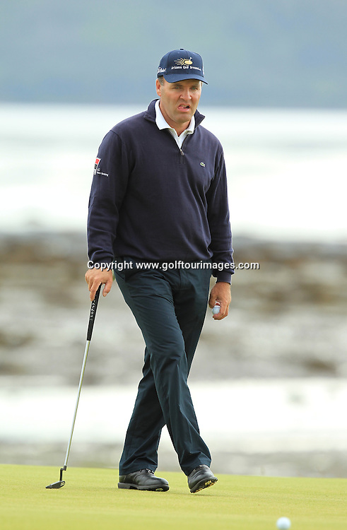 Thomas Levet during the 2012 Aberdeen Asset Management Scottish Open being played over the links at Castle Stuart, Inverness, Scotland from 12th to 14th July 2012:  Stuart Adams www.golftourimages.com:12th July 2012