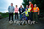 Residents in Kilmoyley seriously concerned about the safety and the state of the road near in Tochar Bán, l to r: Mike Griffin, Kathleen O'Sullivan, Liz Denault, Des Griffin, Aoife and Tomas Aylward and Paddy O'Sullivan, .