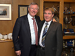 St Johnstone v Aberdeen.....07.12.13    SPFL<br /> Sir Alex Ferguson at McDiarmid Park with former Chairman Geoff Brown. He was invited by St Johnstone FC to mark the 50th anniversary of a famous game in the club's history when a young 'Fergie' scored hat-trick against Rangers at Ibrox on the 21st December 1963. Saints winning the game 3-2<br /> Picture by Graeme Hart.<br /> Copyright Perthshire Picture Agency<br /> Tel: 01738 623350  Mobile: 07990 594431