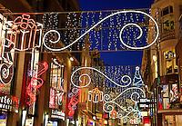 Kerst  in de Kalverstraat van Amsterdam
