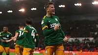 Preston North End's Brad Potts celebrates scoring his side's second goal<br /> <br /> Photographer Stephen White/CameraSport<br /> <br /> The EFL Sky Bet Championship - Stoke City v Preston North End - Saturday 26th January 2019 - bet365 Stadium - Stoke-on-Trent<br /> <br /> World Copyright © 2019 CameraSport. All rights reserved. 43 Linden Ave. Countesthorpe. Leicester. England. LE8 5PG - Tel: +44 (0) 116 277 4147 - admin@camerasport.com - www.camerasport.com