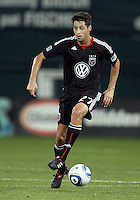 Branko Boskovic #27 of D.C. United during an MLS match against the Houston Dynamo at RFK Stadium in Washington D.C. on September  25 2010. Houston won 3-1.