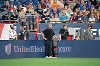 FOXOBOROUGH, MA - AUGUST 21: New England Revolution coach Bruce Arena during a game between FC Cincinnati and New England Revolution at Gillette Stadium on August 21, 2021 in Foxoborough, Massachusetts.
