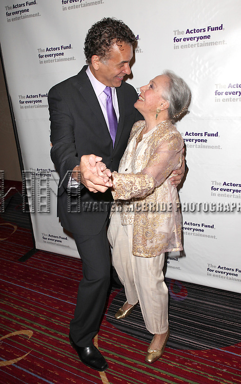 Brian Stokes Mitchell & Marge Champion.attending the Actors Fund Gala honoring Harry Belafonte, Jerry Stiller, Anne Meara & David Steiner at the Mariott Marquis Hotel in New York City on 5/21/12