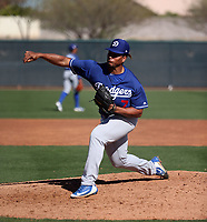 Joel Inoa - Los Angeles Dodgers 2019 spring training (Bill Mitchell)