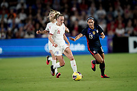 ORLANDO, FL - MARCH 05: Toni Duggan #11 of England moves with the ball during a game between England and USWNT at Exploria Stadium on March 05, 2020 in Orlando, Florida.