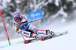 FIS Alpine Ladies Ski World Cup 2021 . Kronplatz, Plan De Corones, Italy on January 26, 2021. In action Tessa Worley (FRA) Pierre Teyssot