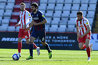 Anthony O'Connor of Bradford City AFC and Ben Coker of Stevenage FC during Stevenage vs Bradford City, Sky Bet EFL League 2 Football at the Lamex Stadium on 5th April 2021