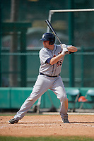 Detroit Tigers Niko Buentello (55) bats during a minor league Spring Training game against the Atlanta Braves on March 25, 2017 at the ESPN Wide World of Sports Complex in Orlando, Florida.  (Mike Janes/Four Seam Images)