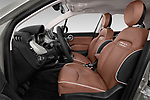 Front seat view of 2017 Fiat 500X Lounge 5 Door SUV Front Seat  car photos