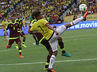 BARRANQUILLA -COLOMBIA, 1-SEPTIEMBRE-2016. Carlos Bacca jugador de Colombia en acción contra   Venezuela durante el  encuentro  por las eliminatorias al mundial de Rusia 2018  disputado en el estadio Metropolitano Roberto Meléndez de Barranquilla./  Carlos Bacca player of Colombia in actions against Venezuela during the qualifying match for the 2018 World Championship in Russia Metropolitano Roberto Melendez stadium in Barranquilla . Photo:VizzorImage / Felipe Caicedo  / Staff