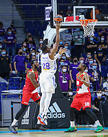 13th October 2021; Wizink Center; Madrid, Spain; Turkish Airlines Euroleague Basketball; game 3; Real Madrid versus AS Monaco;  Guerschon Yabusele (Real Madrid) takes with a jump shot