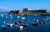 Burg  San  Antón in La Coruña, Galicien, , Spanien
