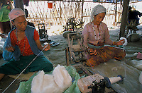 Under UNHCR protection, the life of 135000 Bhutanese refugees in the 7 camp (near Damak, Nepal). Womans and mens are spinning woollen for few rupees..-The full text reportage is available on request in Word format