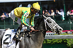 May 1 2015:  Promise Me Silver with Robby Albarado wins the 60th running of the Grade III Eight Belles for 3-year old fillies, going 7 furlongs at Churchill Downs. Trainer W. Bret Calhoun. Owner Robert G. Luttrell. Sue Kawczynski/ESW/CSM