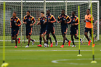COTIA - BRASIL -21-06-2014. Foto: Roberto Candia / Archivolatino<br /> Fredy Guarin, Carlos Valdes, Santiago Arias, Eder Alvarez, Jackson Martinez y Carlos Carbonero jugadores de la selección de fútbol de Colombia durante su entrenamiento, hoy 21 de junio de 2014, en el centro de entrenamiento de Sao Paulo FC en Cotia como parte de la Copa Mundial de la FIFA Brasil 2014./ Fredy Guarin, Carlos Valdes, Santiago Arias, Eder Alvarez, Jackson Martinez and Carlos Carbonero players of Colombia National Soccer Team during the training, today June 21 2014, at Sao Paulo Fc training center in Cotia as part of the 2014 FIFA World Cup Brazil. Photo: Roberto Candia / Archivolatino<br /> VizzorImage PROVIDES THE ACCESS TO THIS PHOTOGRAPH ONLY AS A PRESS AND EDITORIAL SERVICE IN COLOMBIA AND NOT IS THE OWNER OF COPYRIGHT; ANOTHER USE IS REPONSABILITY OF THE END USER. NO SALES, NO MERCHANDASING. ALL COPYRIGHT IS ARCHIVOLATINO. Photo: Daniel Jayo / Archivolatino