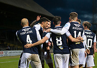19th December 2020; Dens Park, Dundee, Scotland; Scottish Championship Football, Dundee FC versus Dunfermline; Osman Sow of Dundee is congratulated after scoring for 2-0 in the 51st minute