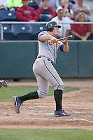 August 4, 2009: Boise Hawks' Justin Bour at-bat during a Northwest League game against the Everett AquaSox at Everett Memorial Stadium in Everett, Washington.