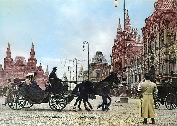 1908-1910. Красная площадь . Москва. Российская Империя.