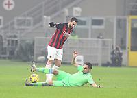Milano  23-12-2020<br /> Stadio Giuseppe Meazza<br /> Campionato Serie A Tim 2020/21<br /> Milan Lazio<br /> nella foto:   Hakan Calhanoglu                                                       <br /> Antonio Saia