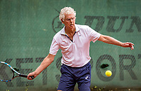 Hilversum, The Netherlands,  August 20, 2021,  Tulip Tennis Center, NKS, National Senior Tennis Championships, Men's 75+,  Wijnand van Leeuwen (NED)<br /> Photo: Tennisimages/Henk Koster