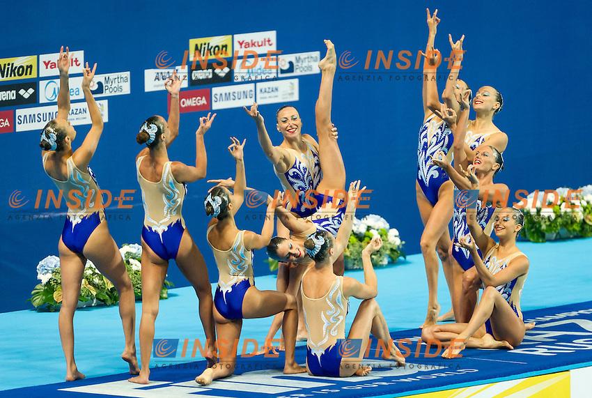ITA - Italy<br /> BOZZO Elisa CALLEGARI Beatrice<br /> CATTANEO Camilla CERRUTI Linda<br /> DEIDDA Francesca FERRO Costanza<br /> FLAMINI Manila MUSSO Viola<br /> PERRUPATO Mariangela SGARZI Sara<br /> Day9 01/08/2015<br /> XVI FINA World Championships Aquatics<br /> Synchro<br /> Kazan Tatarstan RUS July 24 - Aug. 9 2015 <br /> Photo Pasquale Mesiano/Deepbluemedia/Insidefoto