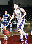 Prairie View A&M Lady Panthers guard Courtney Larsen (31) in action during the SWAC Tournament game between the Prairie View A&M Lady Panthers and the Jackson State Tigerettes  at the Special Events Center in Garland, Texas. Prairie View defeats Jackson State 56 to 40.