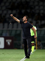 Calcio, Serie A: Torino - Sassuolo, Olympic stadium Grande Torino, August 25, 2019.<br /> Sassuolo's coach Roberto De Zerbi speaks to his players during the Italian Serie A football match between Torino and Sassuolo at Olympic stadium Grande Torino, August 25, 2019.<br /> UPDATE IMAGES PRESS/Isabella Bonotto