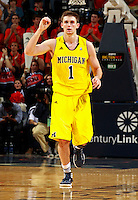 CHARLOTTESVILLE, VA- NOVEMBER 29: Stu Douglass #1 of the Michigan Wolverines during the game on November 29, 2011 at the John Paul Jones Arena in Charlottesville, Virginia. Virginia defeated Michigan 70-58. (Photo by Andrew Shurtleff/Getty Images) *** Local Caption *** Stu Douglass