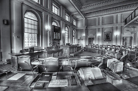 An interior view of the Senate Chamber in the Maine State House in Augusta, Maine.