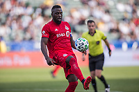 CARSON, CA - FEBRUARY 15: Jozy Altidore #17 of Toronto FC traps a ball during a game between Toronto FC and Los Angeles Galaxy at Dignity Health Sports Park on February 15, 2020 in Carson, California.