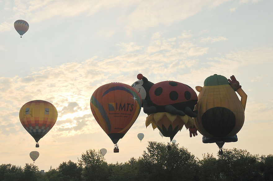 In need of some air traffic control at the Lewiston-Auburn Balloon Festival.