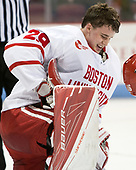 Jake Oettinger (BU - 29) - The Boston University Terriers tied the visiting Providence College Friars 2-2 on Saturday, December 3, 2016, at Agganis Arena in Boston, Massachusetts.