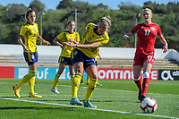 20200307  Lagos , Portugal : Swedish Filippa Angelda (16) pictured during the female football game between the national teams of Sweden and Denmark on the second matchday of the Algarve Cup 2020 , a prestigious friendly womensoccer tournament in Portugal , on saturday 7 th March 2020 in Lagos , Portugal . PHOTO SPORTPIX.BE | STIJN AUDOOREN