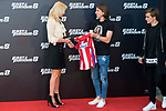 "South African actress Charlize Theron with Atletico de Madrid's player Antoine Griezmann and Filipe Luis during the presentation of the film ""Fast & Furious 8"" at Hotel Villa Magna in Madrid, April 06, 2017. Spain.<br /> (ALTERPHOTOS/BorjaB.Hojas)"