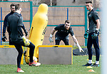 St Johnstone Training…29.03.19<br />Zander Clark pictured during training this morning at McDiarmid Park with fellow keepers Cammy Bell, Ross Sinclair and Jack Wills ahead of tomorrow's trip to Motherwell.<br />Copyright Perthshire Picture Agency<br />Tel: 01738 623350  Mobile: 07990 594431