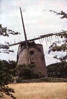 Pictured: The Melin Llynon windmill before it was restored, circa 1976, in north Wales, UK.<br /> Re: A new operator is needed for Wales' last working windmill to keep the popular tourist attraction open.<br /> Anglesey council is trying to offload the running of the 18th Century Melin Llynnon in a bid to cut costs.<br /> Sitting tenants are running the mill's shop and cafe in the village of Llanddeusant.<br /> The council approved a one-off payment of £40,000 to keep the attraction open for 2018, although its long-term future remains uncertain.<br /> The windmill, built in 1775 near Bodedern, was restored during the early 1980s by the then Ynys Mon Borough Council, according to the Local Democracy Reporting Service.<br /> While there were once more than 30 working windmills on Anglesey, all had fallen into disrepair by the early 20th Century.