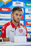 Alvaro Medran during his official presentation at Vallecas Stadium in Madrid, Spain. August 24, 2018. (ALTERPHOTOS/A. Perez Meca)