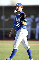 Matt Andriese #35 of University of California-Riverside pitches against Air Force in the annual Coca-Cola Classic at Surprise Recreational Complex on March 4, 2011 in Surprise, Arizona..Photo by:  Bill Mitchell/Four Seam Images.
