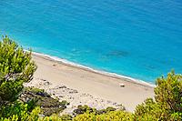 The beach Yialos in Lefkada, Greece