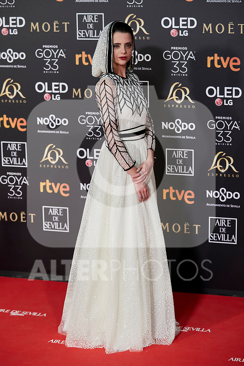 Macarena Gomez attends to 33rd Goya Awards at Fibes - Conference and Exhibition  in Seville, Spain. February 02, 2019. (ALTERPHOTOS/A. Perez Meca)